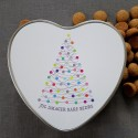 Heart form metal box XMAS