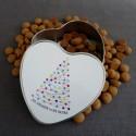 hjerteformet metaldåse XMAS