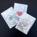 Folded card HEART blue