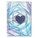 Foldet kort HEART blå