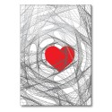 Folded card HEART red
