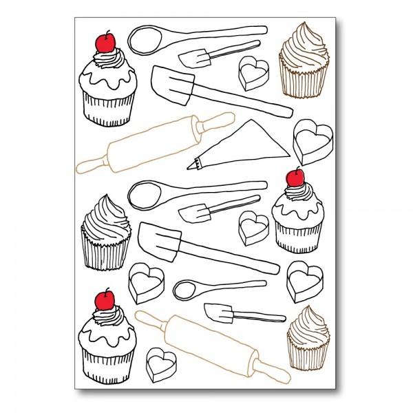 Foldet kort CAKE