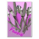 Folded card FOODIE PHOTO