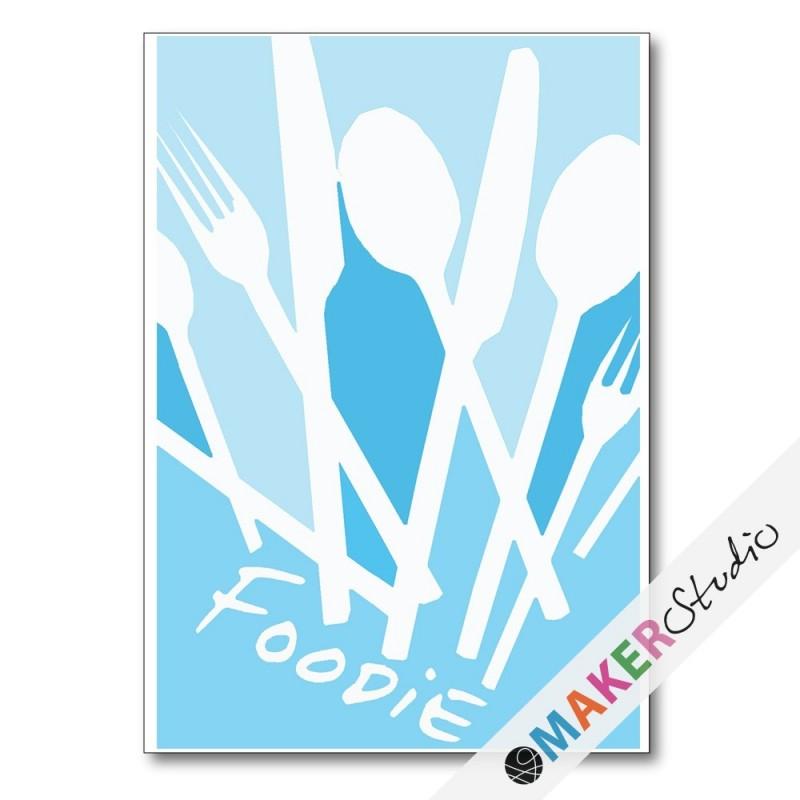 Foldet kort FOODIE OUTLINE