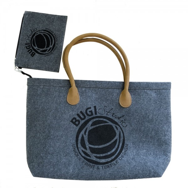 Felt bag with wallet BUGILOGO