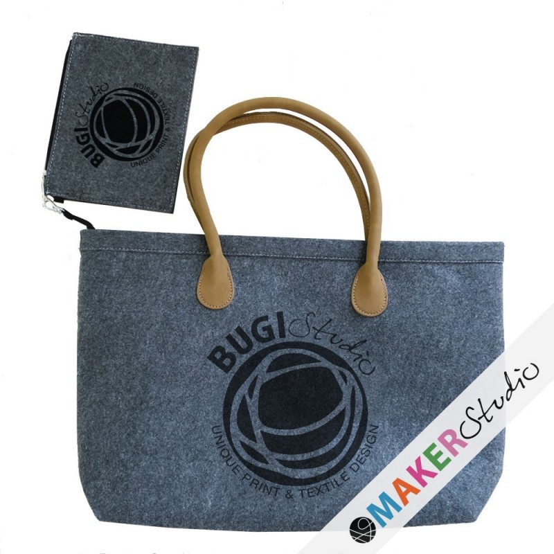 Felt bag with wallet BUGILOGO