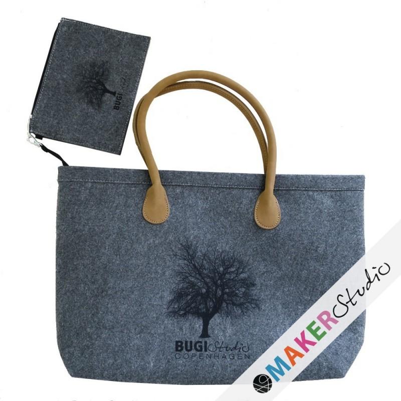Filt taske med hængepil