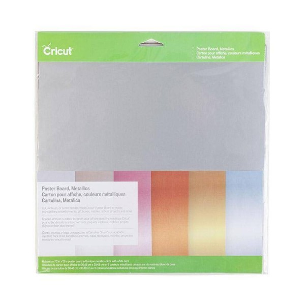 Cricut Poster Board Metallics 6 ark