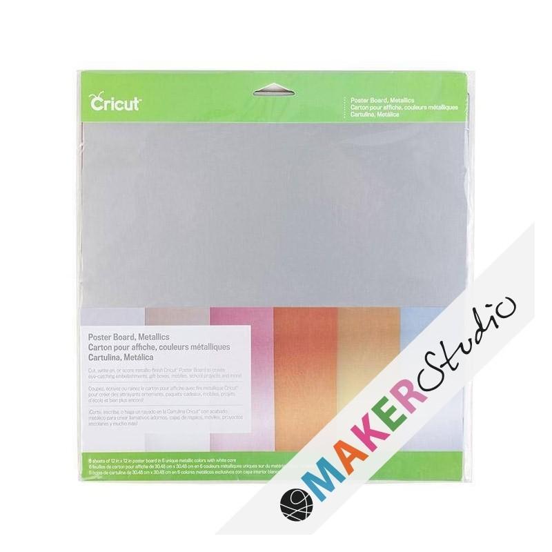 Cricut Poster Board Metallics 30,5 x 30,5 cm.