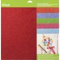 Cricut Cardstock Glitter Cardstock Brights Sampler 30,5 x 30,5 cm.