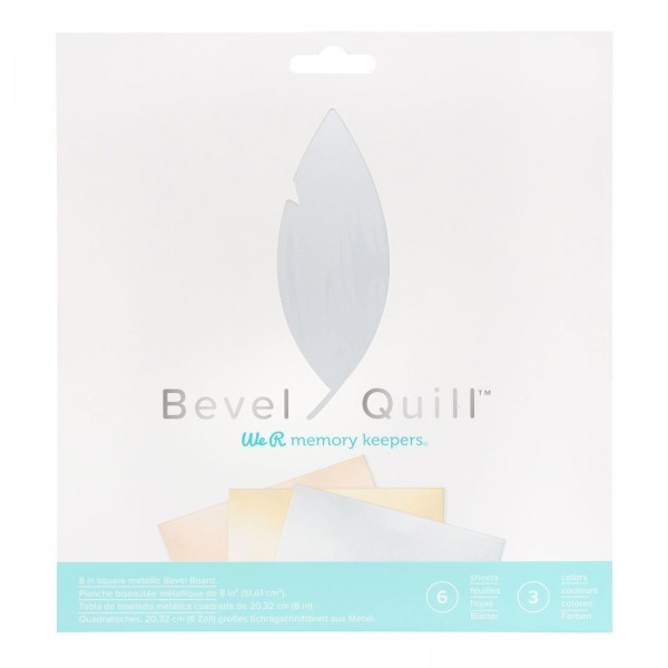 We R Memory Keepers Bevel Quill Bevel Board Sheets Metallic