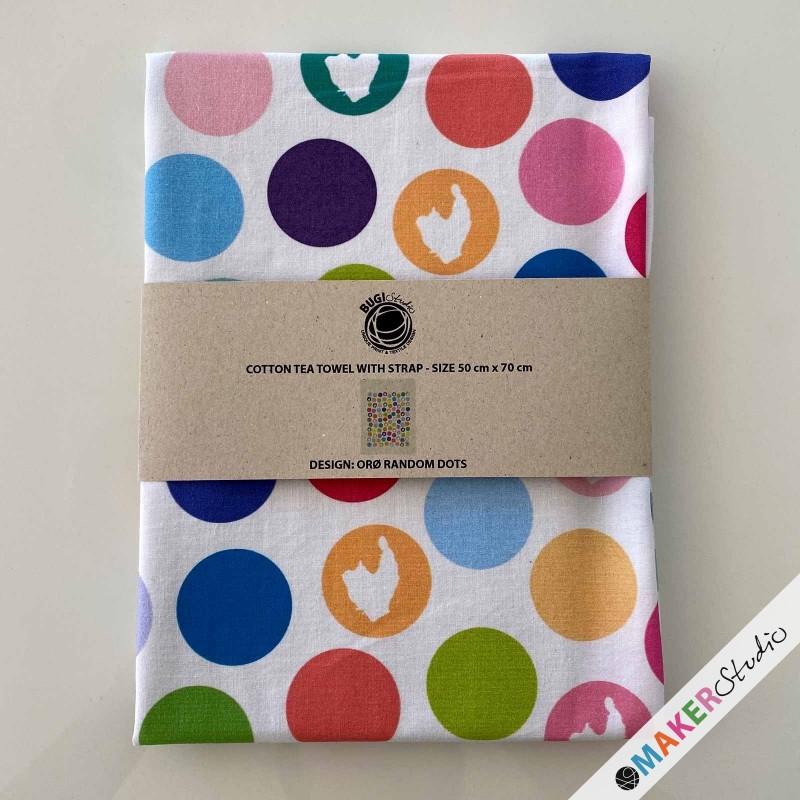 Tea towel ORØ dots random