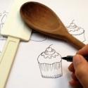 Viskestykke CAKE2 all-over print