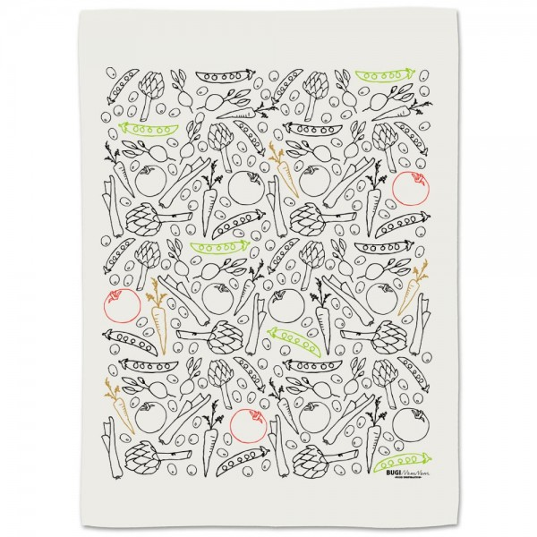 Tea towel VEGE2 all over print